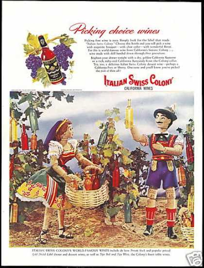 Italian Swiss Colony Wine Cork Dolls Photo (1947)