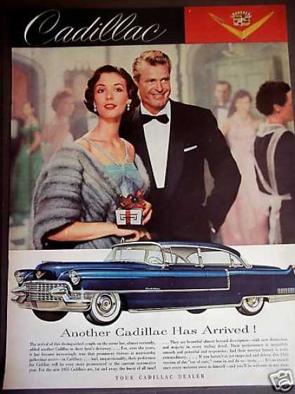 Cadillac for 1955 Classic Blue Sedan Photo (1954)