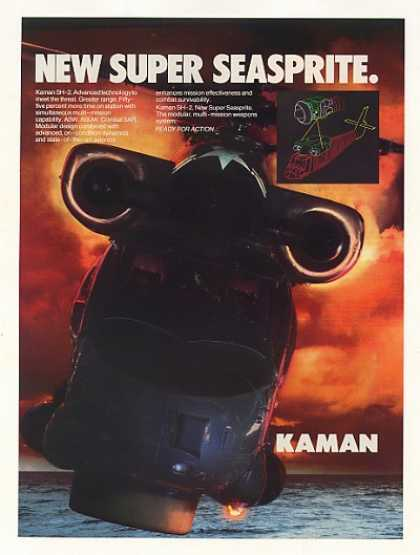 Kaman SH-2 Super Seasprite Helicopter Photo (1987)