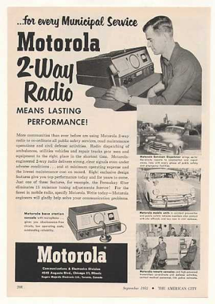 Motorola 2-Way Radio Municipal Service (1952)
