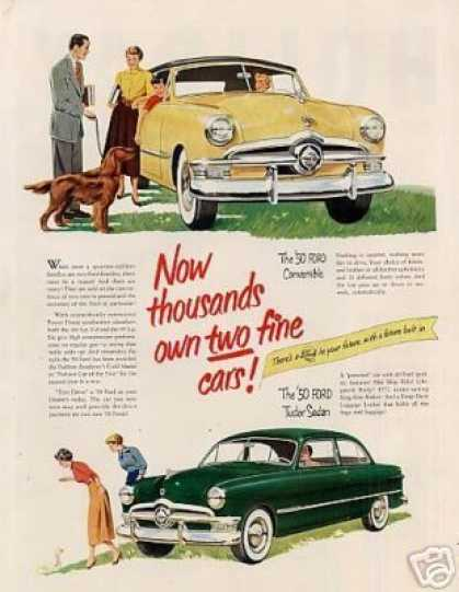 Ford Convertible & Tudor Sedan (1950)