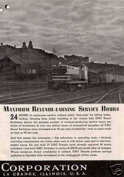 "Gm/emc Locomotive 2 Pg Ad Winton ""N"" Switcher (1939)"