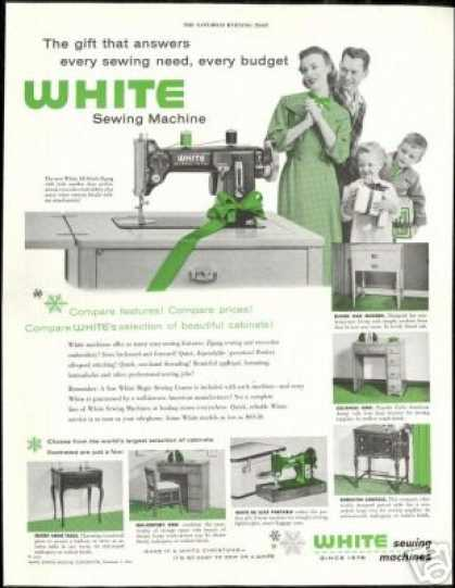 White Sewing Machine Vintage Photo (1954)