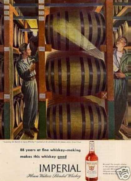 Imperial Whiskey Ad Ernest Fiene Art (1946)