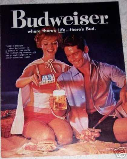 Budweiser Beer Man Woman Campfire (1956)