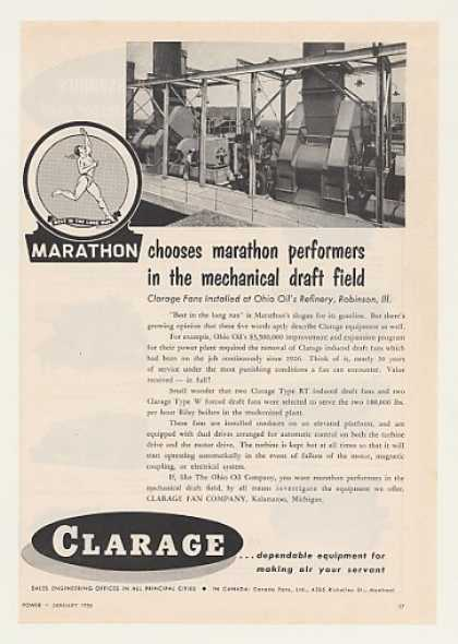 Marathon Ohio Oil Refinery Robinson IL Clarage (1956)