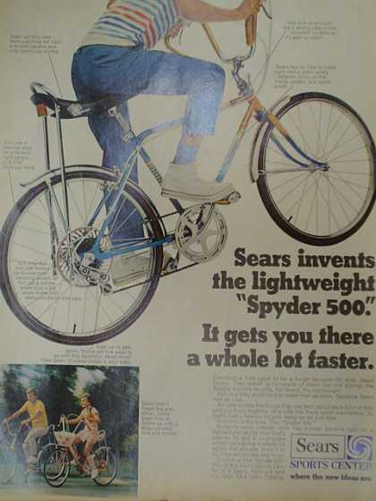 Sears Sports Center. Bicycle. The lightweight Spyder 500 (1970)
