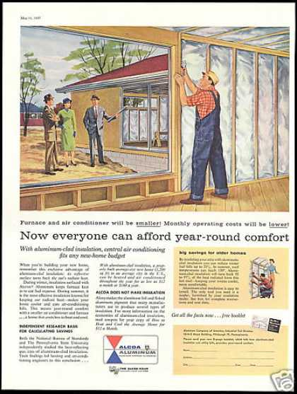 Alcoa Aluminum Clad Home Insulation Install (1957)
