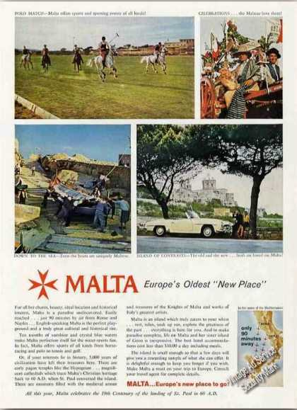 Malta Europe's Oldest New Place Travel (1960)