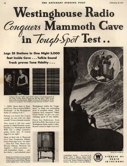 Westinghouse Electric & Manufacturing Company's Various – Westinghouse Radio Conquers Mammoth Cave in Tough-Spot Test.. (1931)