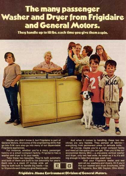 General Motor's Frigidaire Washer and Dryer (1973)