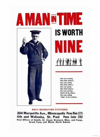 A Man in Time is Worth Nine, U.S. Navy (1917)
