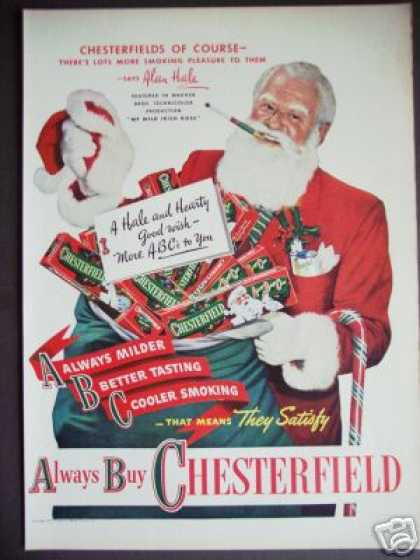Alan Hale Santa Claus Chesterfield (1947)