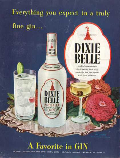 Dixie Belle Gin – The Zinnia (1947)