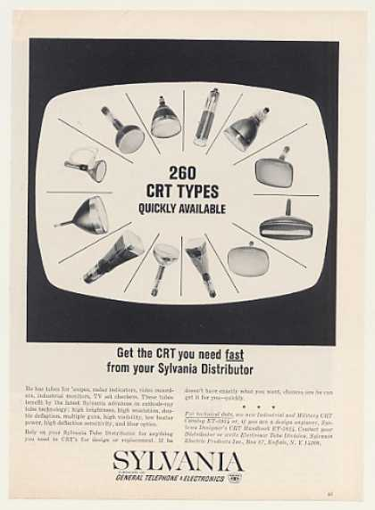 GTE Sylvania CRT Tubes for Scopes Monitors TV (1964)