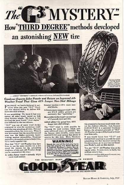 Goodyear's G3 Tread (1934)