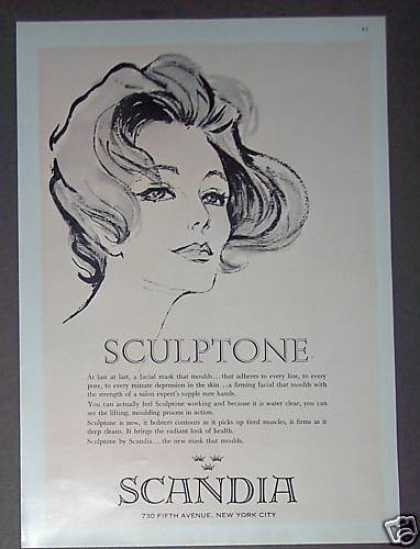 Sculptone Facial Mask By Scandia (1962)