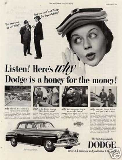 "Dodge Car Ad ""Listen! Here's Why... (1951)"
