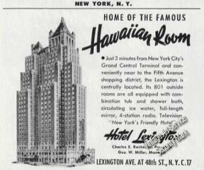 Hotel Lexington New York Hawaiian Room (1953)