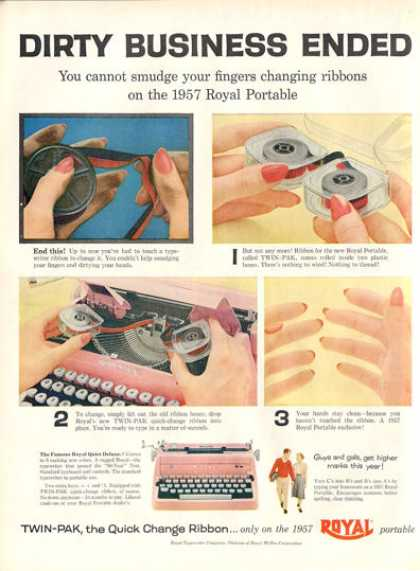Royal Quiet Deluxe Typewriter (1956)