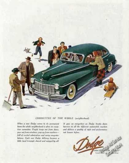 Green Dodge Art Collectible Car (1948)