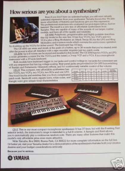 Yamaha Keyboard Synthesizer 4 Models (1979)