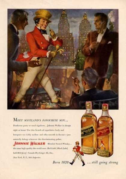 Johnnie Walker Whisky Bottle (1951)