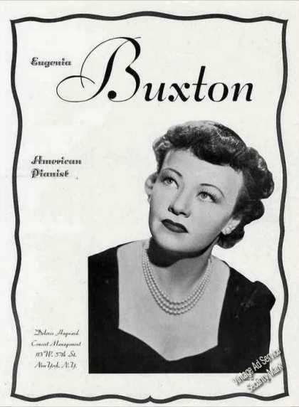 "Eugenia Buxton Photo ""American Pianist"" Trade (1944)"