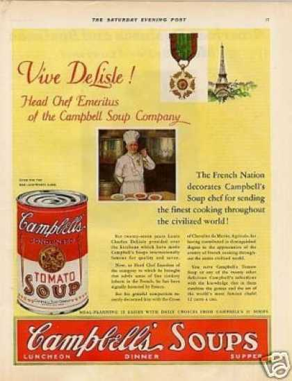 Campbell's Tomato Soup Ad Chef (1930)