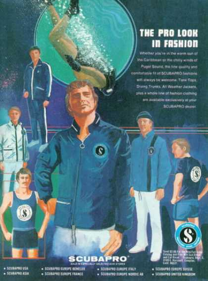 Scubapro Diver Fashion Trunks Jackets Tops (1975)