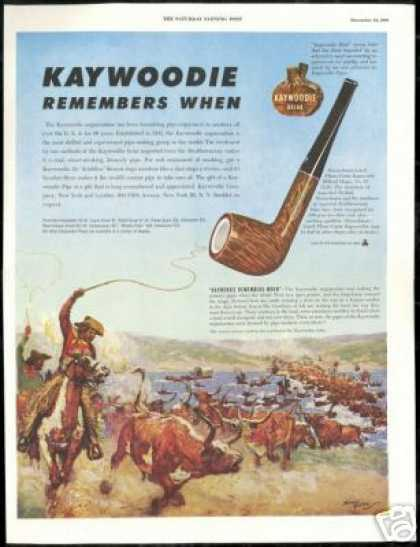 Cowboy Cattle Drive Price Art Kaywoodie Pipe (1949)