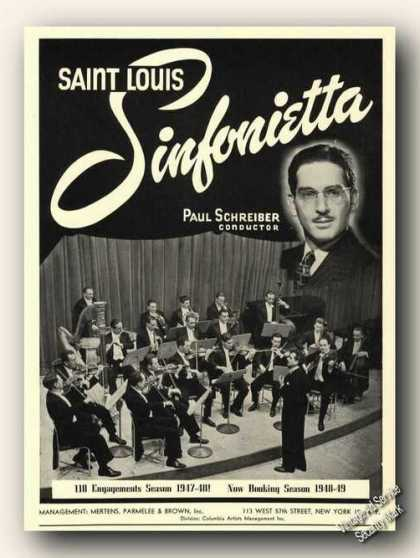 Paul Schreiber Photo Saint Louis Sinfonietta (1948)