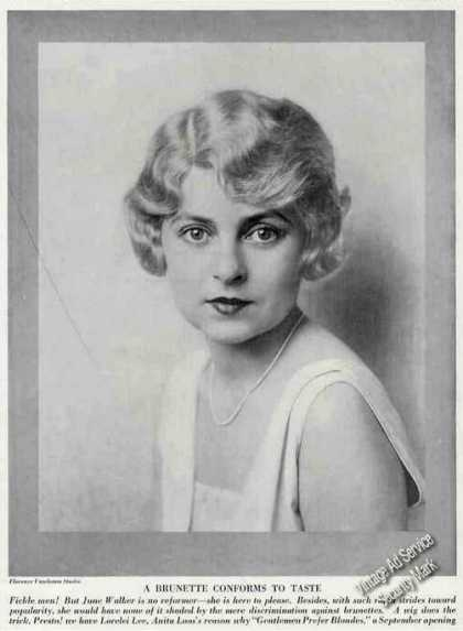 June Walker Photo Antique Theatre Trade Feature (1926)