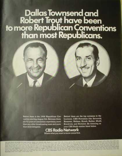 CBS Radio Dallas Townsend and Robert Trout Republican Convention (1968)