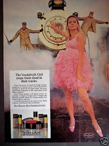 Vandabuilt Girl Stops Train Vanda Cosmetics (1968)