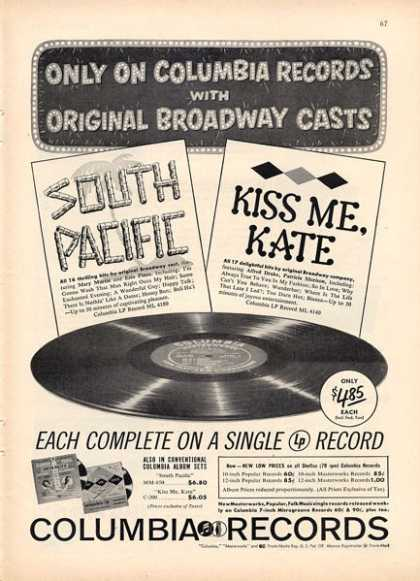 Columbia Records South Pacific Kiss Me (1949)