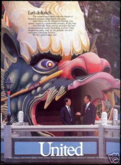 United Airlines Orient Dragon Photo (1987)