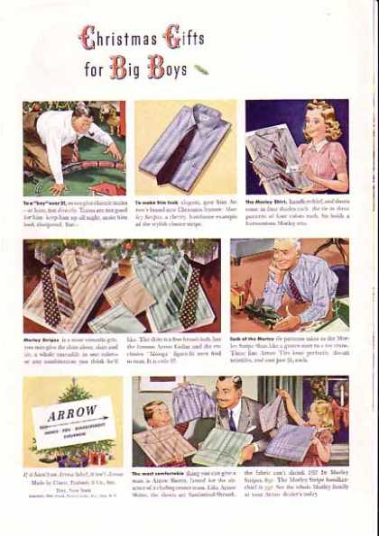 Arrow Shirts Christmas for Big Boys (1940)