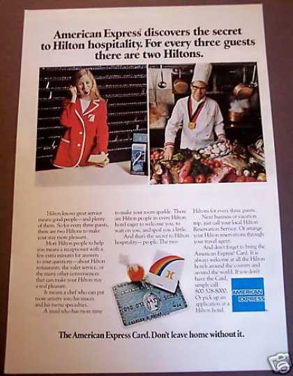American Express Hilton Hotel Travel (1975)