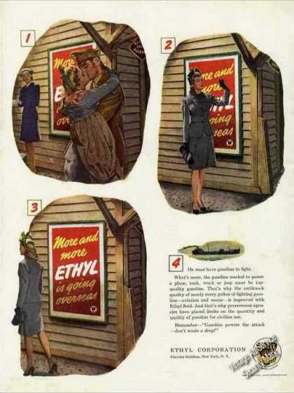 """He Must Have Gasoline To Fight"" Wwii Ethyl (1944)"