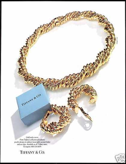 Tiffany & Co Jewelry Gold Chain Blue Box Photo (1990)