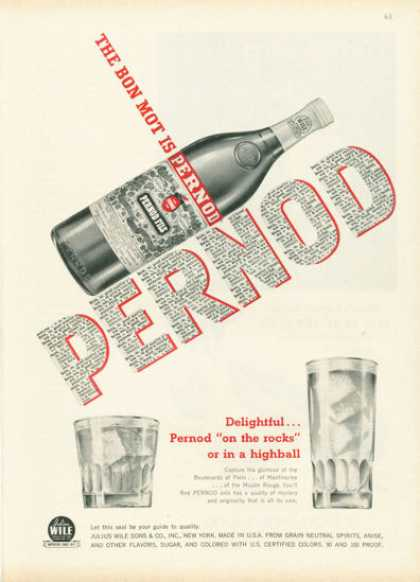 Pernod Fils Anis Bottle (1959)