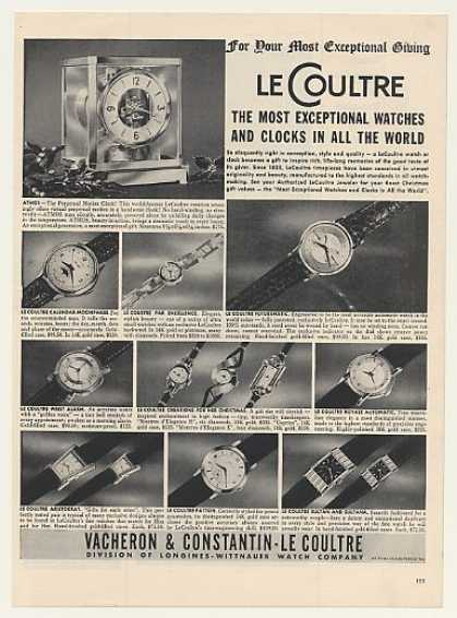Le Coultre Atmos Clock 11 Watches (1952)