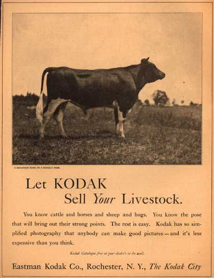 Kodak – Let Kodak Sell Your Livestock (1920)