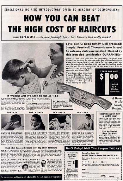 BarberEtte's Home Hair Trimmer (1953)