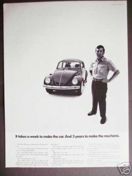 Volkswagen Beetle Mechanic Photo (1968)