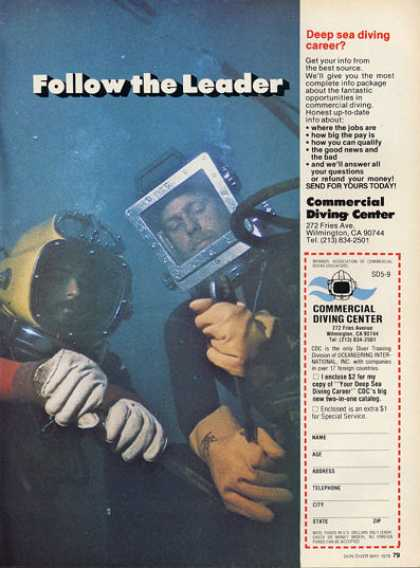 Commercial Diving Center Deep Sea Dive Helmet Ad T (1979)
