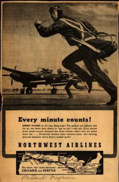 Northwest Airlines – Every minute counts (1943)