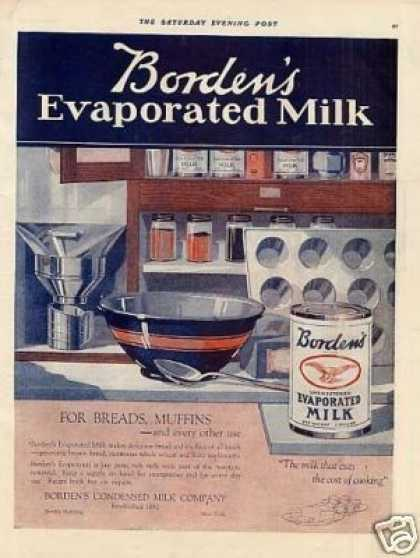 Borden's Evaporated Milk Color (1919)