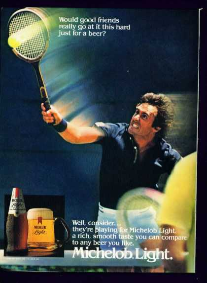 Man at Tennis In Michelob Light Beer C (1982)